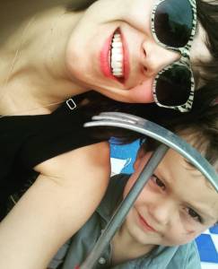 The reviewer and her son