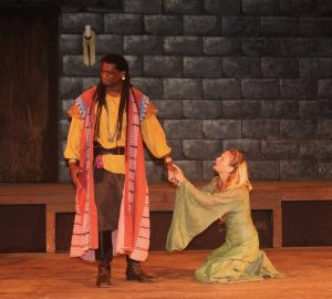 Dameion Brown as Othello, Luisa Frasconi as Desdemona
