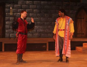 Cassidy Brown as Iago, Dameion Brown as Othello